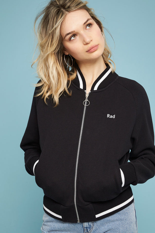 Rad Logo Series - Zip up Teddy Black