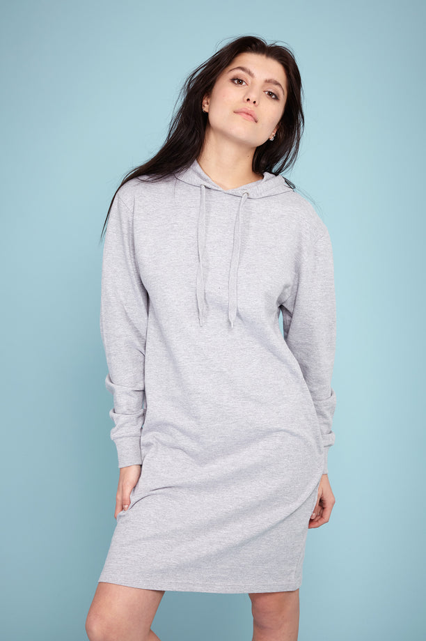 Light Hoodie Dress - Grey