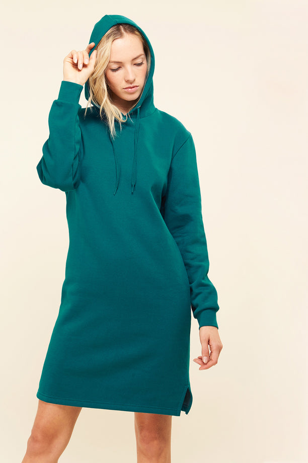 Hoodie dress - Teal green