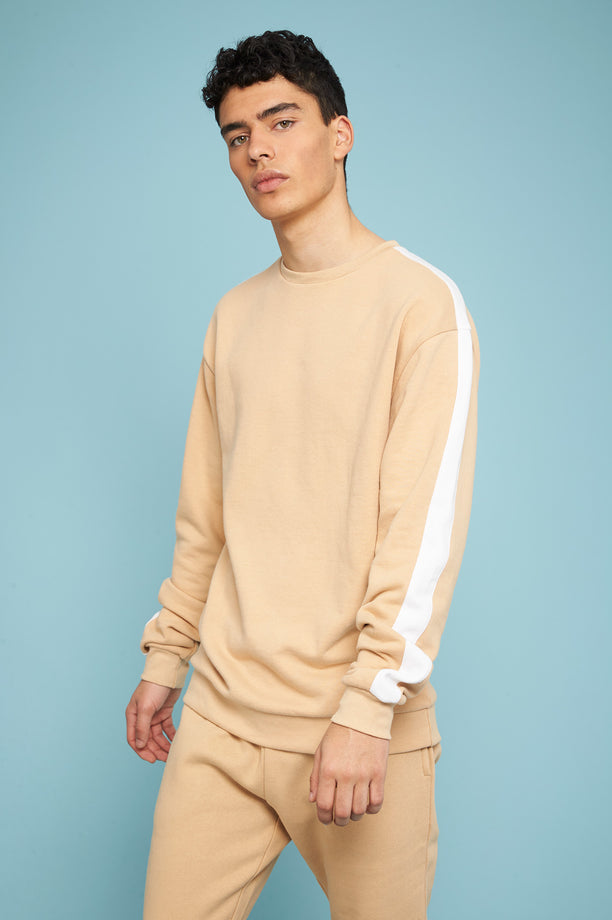 Striped Sweatshirt - Beige