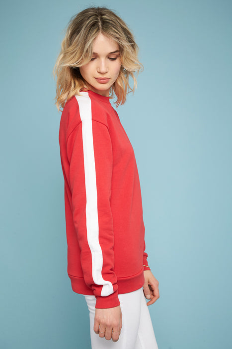 Striped Sweatshirt - Red