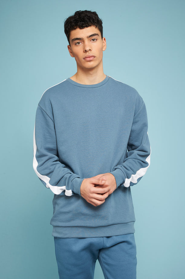 Striped Sweatshirt - Blue