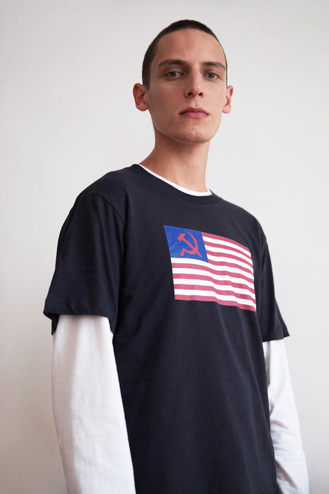 T-Shirt - Flag - Anthrazit