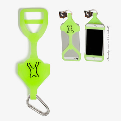 A PhoneHug® | Green Glow | phone harness - PhoneHug®