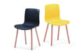 Acti Beech Leg Chair with 10 Shell Colours