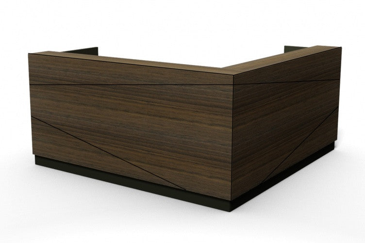 Axis L Shape or Corner Reception Counter Available in Various Sizes and Configurations