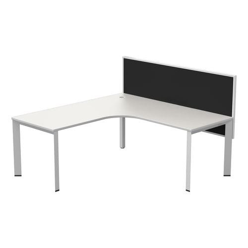 Dimension White Corner Workstation 1800x1800x750 With Connect 30 Screen