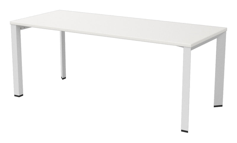 Dimension White Straight Single Desk 1800X750