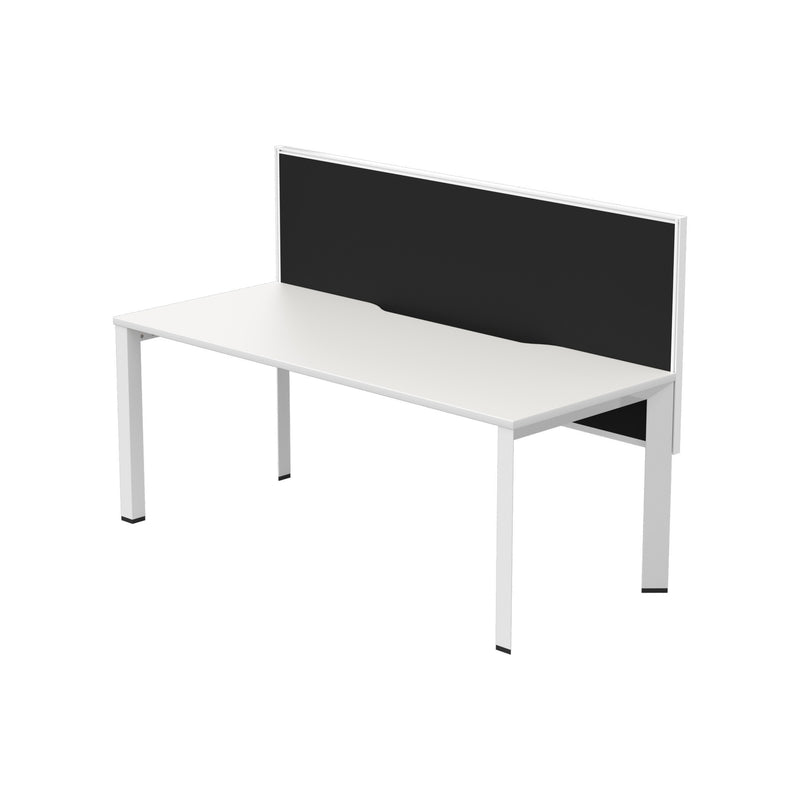 Dimension White Straight Single Desk 1800X750 With Connect 30 Screen 1800X800