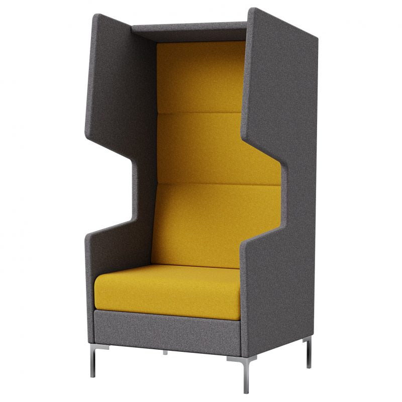 Khloe Single Seater High Back Acoustic Lounge Booth with Side Wings