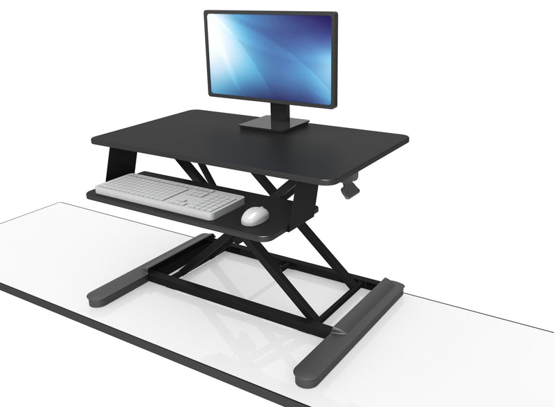 Maxishift-X Height Adjustable Desktop Platform Black