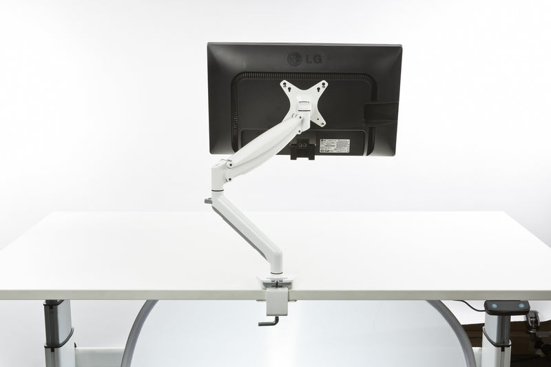 Neutral Buoyancy Single Monitor Arm White