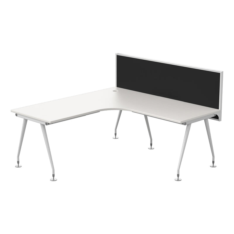 Origin Corner Workstation 1800x1800x750 White | Connect 30 Screen
