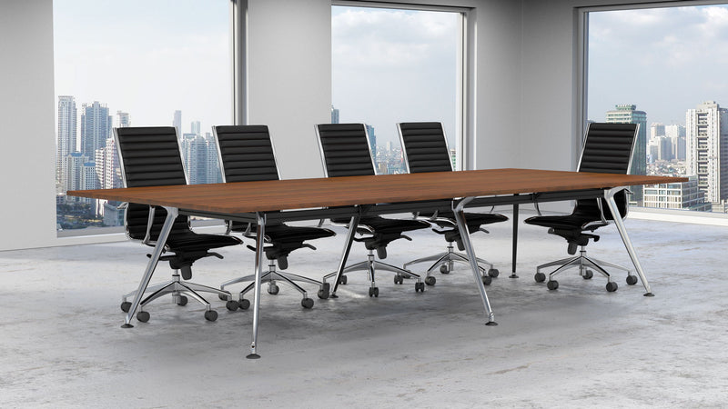 Profile Chrome Leg Boardroom Rectangular Table 2400W x 1200D