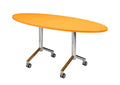 Velocity Flip Top Training or Meeting Room Table White Frame & Top 1500Wx750D