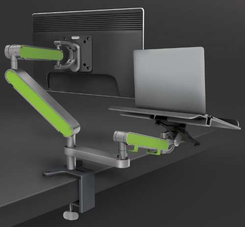 Z Bridge Laptop Arm White for Zgo Monitor Arms
