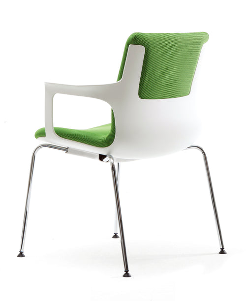 T60 4 Chrome Leg Visitor Chair with Arms