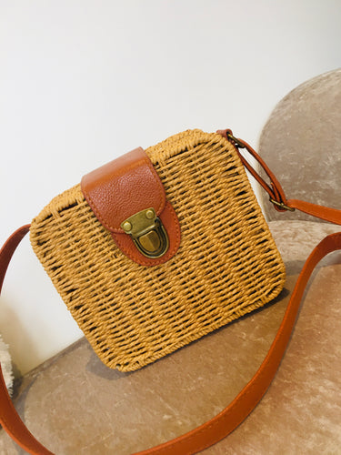 Straw Cross Body Bag - KC Dresses