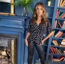 Batwing Belted Polka Dot top