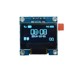128x64 pixel OLED graphics display module (blue), I2C interface