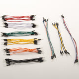 Pack of 65 jumper wires, various lengths, male-to-male