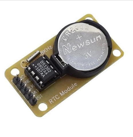 DS1302 Real Time Clock (RTC) socketed on breakout board (no battery)