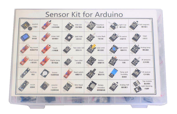Sensor Kit for Arduino (37 modules + case)