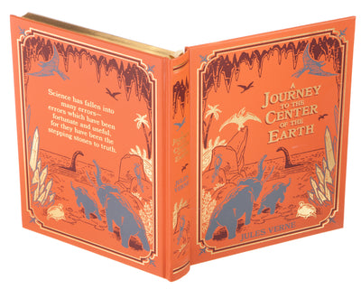 Hollow Book Safe: A Journey to the Center of the Earth by Jules Verne (Leather-bound)
