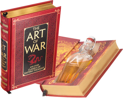 The Art of War by Sun Tzu (Leather-bound) (Flask Included)