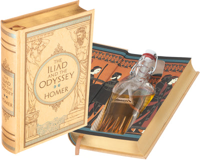 The Iliad and the Odyssey by Homer (Leather-bound) (Flask Included)