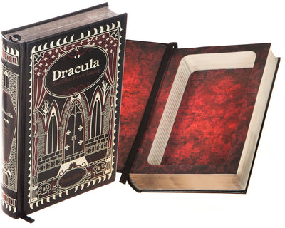 Hollow Book Safe: Dracula and other Horror Classics by Bram Stoker (Leather-bound)