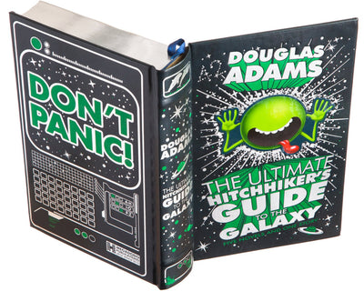 The Ultimate Hitchhiker's Guide to the Galaxy by Douglas Adams (Flask Included) (Leather-bound)