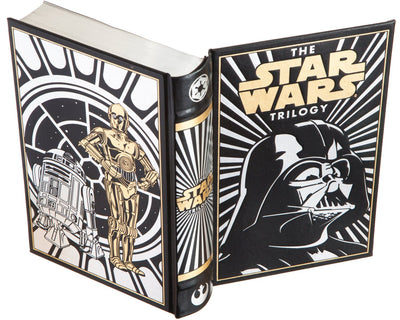 Hollow Book Safe: Star Wars, the Trilogy by George Lucas, Donald Glut, James Kahn (Black) Leather-bound)