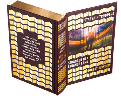 Starship Troopers, Stranger in a Strange Land by Robert Heinlein (Leather-bound)