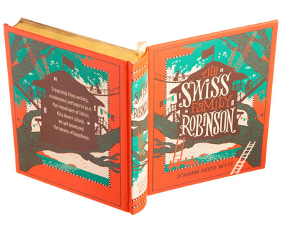 Hollow Book Safe: The Swiss Family Robinson by Johann David Wyss (Leather-bound)
