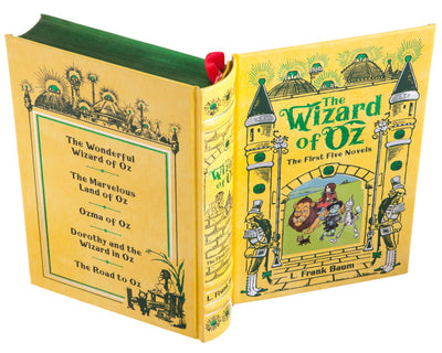 Hollow Book Safe: The Wizard of Oz by L. Frank Baum (Leather-bound)