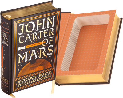 Hollow Book Safe: John Carter of Mars by Edgar Rice Burroughs (Leather-bound)