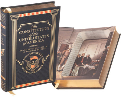The Constitution of the United States of America by The Founding Fathers (Leather-bound)