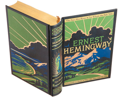 Ernest hemingway leatherbound book cover