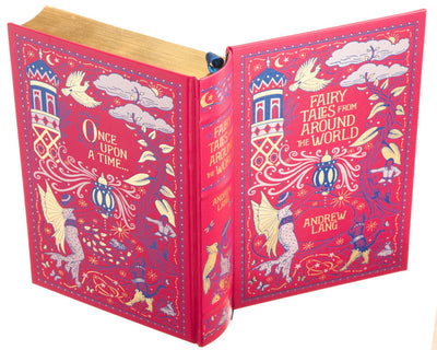 Fairy Tales from Around the World by Andrew Lang (Leather-bound) (Flask Included)