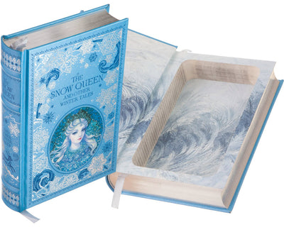 Hollow Book Safe: The Snow Queen and Other Winter Tales (Leather-bound)