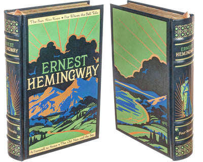 Ernest Hemingway with Tuxedo Flask - (Leather-bound)