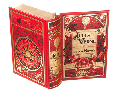 Hollow Book Safe: Jules Verne - Seven Novels (Leather-bound)