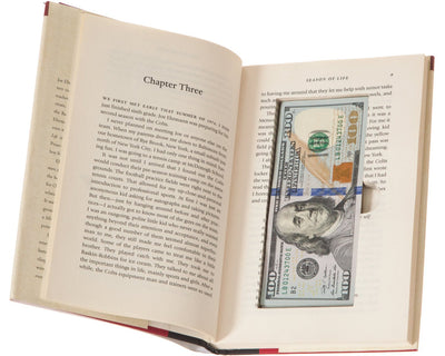 Real-Book Cash Box with Magnetic Closure (2 Pack) (Titles Vary)