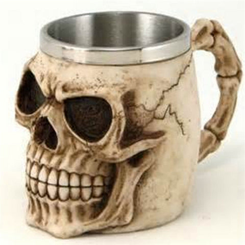 Skeleton Resin Drinking Mug
