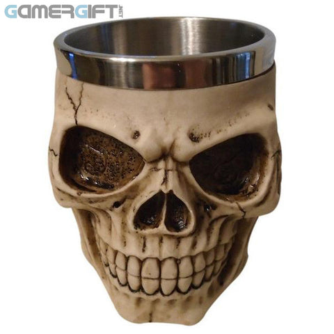 Handmade Special Skull Coffee Mug Stainless Steel 4 Types