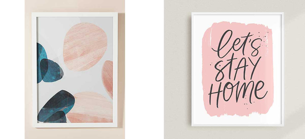 modern blush pink art prints