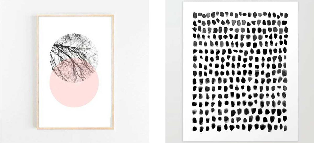 modern black art prints