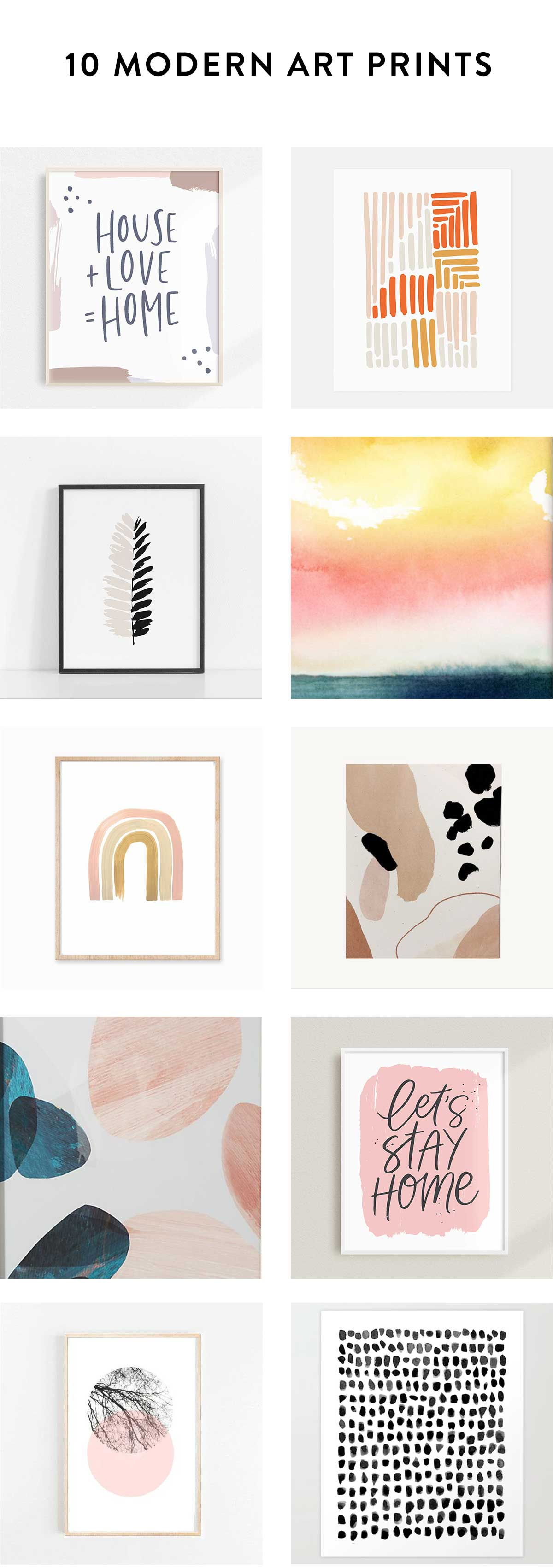 10 modern art prints for your living room walls