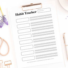 30 day habit tracker printable